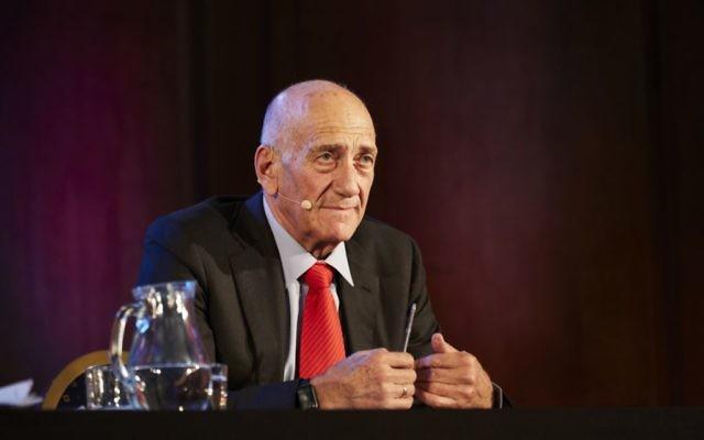 Former Israeli Prime Minister Ehud Olmert