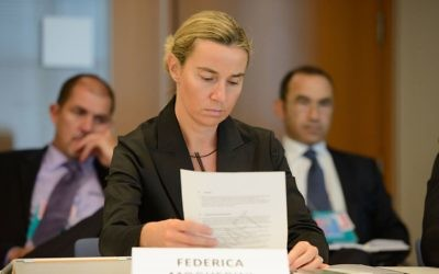 Federica Mogherini representing Italy at the NATO Parliamentary Assembly in 2013.