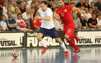 Russell Goldstein, in action against Poland. Picture: Peter Talbot