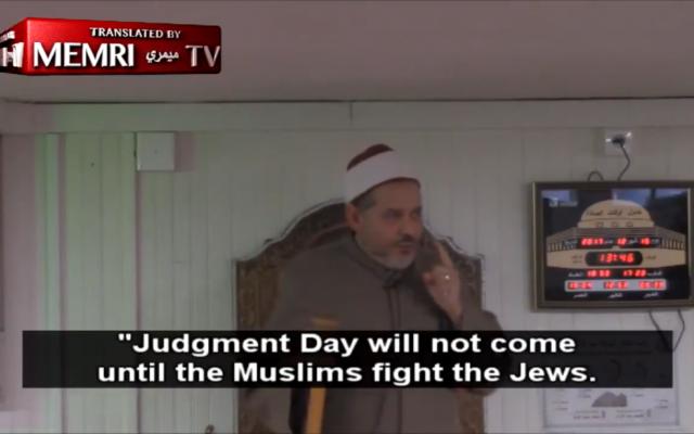 Mohamed Tatai giving his controversial sermon