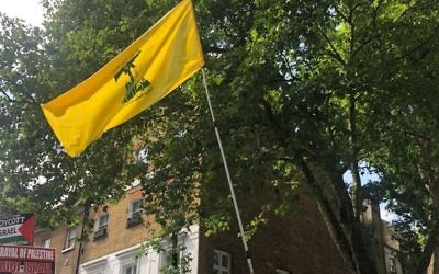 Hezbollah flag waves in the heart of London for Al Quds Day