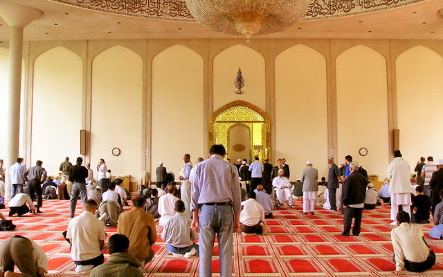 Interior of London Central Mosque