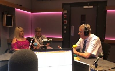 Jim Wells (right) on the Nolan Show, BBC 