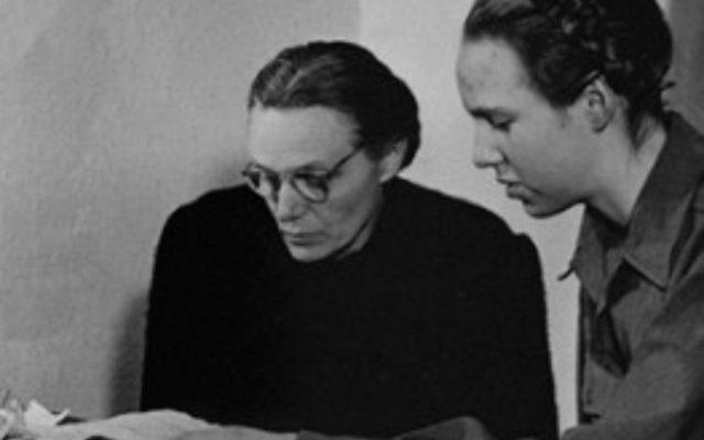 Margarete and Gudrun Himmler aka Burwitz (right) at the International Military Tribunal trial of war criminals at Nuremberg.