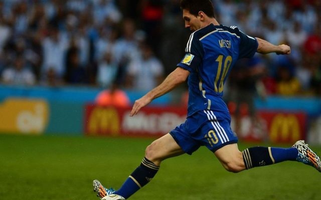 Argentina's Leo Messi in action