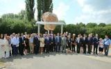 European Jewish leaders present the new memorial at the Terezin camp   Photo credit: Ondrej Besperat