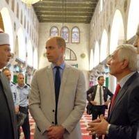 Prince William at the Al Aqsa mosque