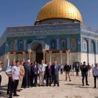 Prince William at the Dome of the Rock
