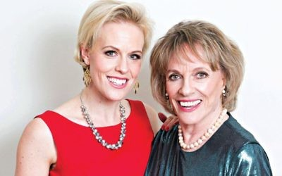 Rebecca Wilcox with her mum, Esther Rantzen