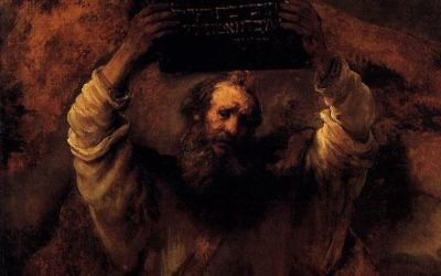 Moses Breaking the Tablets of the Law