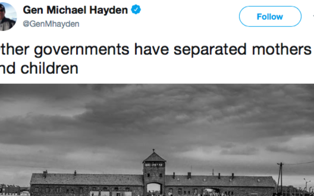 Michael Hayden says: 'Other governments have separated mothers and children'