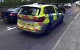 Police attend to the incident in Stamford Hill, after a woman reportedly ran at children with a knife, shouting anti-Semitic slurs