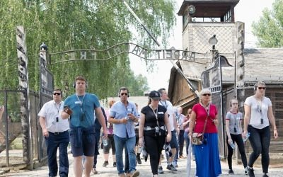 Chelsea FC organised a trip to Auschwitz as part of its Say No To Antisemitism programme. Picture: Holocaust Educational Trust