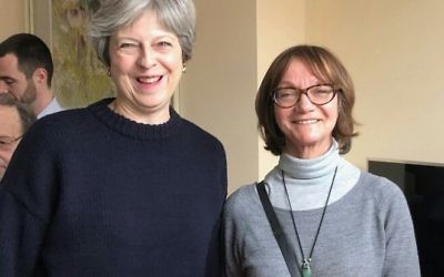 Linda Freedman (right) with Theresa May in February
