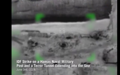 IDF video showing the targeted strike on a Hamas coastal terror tunnel