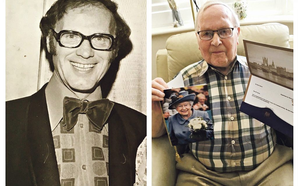 David at his son's barmitzvah 47 years ago (left) and celebrating his 100th birthday (right)!