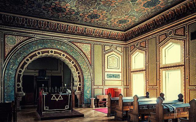 Interior of Sarajevo's Ashkenazi Synagogue