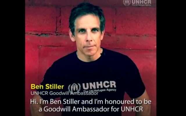 Ben Stiller in the UNHCR's video
