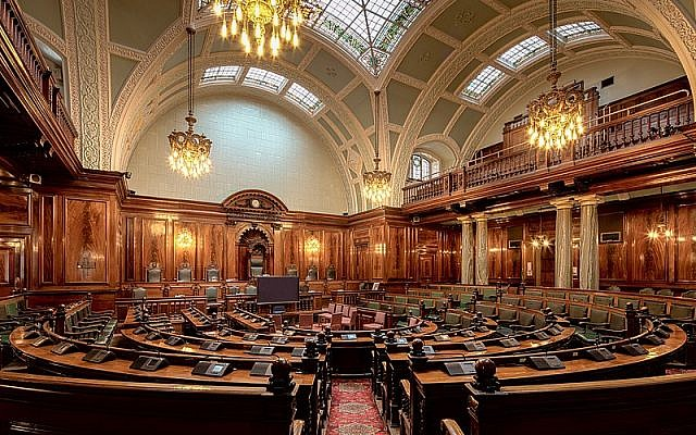 An example of a local authority's debating chamber. (Bradford Council Chamber)