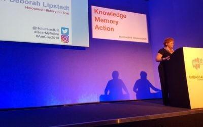 Deborah Lipstadt speaking at the HET ambassador's conference