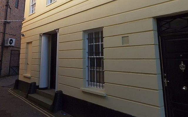 The outside of Exeter's old synagogue building