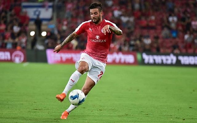 Hanan Maman was on target for Hapoel Be'er Sheva in its comfortable win. Picture: Hapoel Be'er Sheva FC