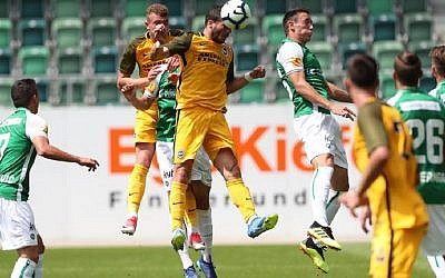 Tomer Hemed heads in the equaliser against St Gallen