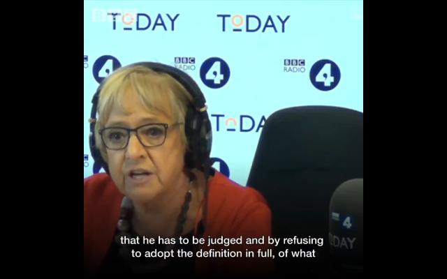 Dame Margaret Hodge speaking on BBC Radio 4's Today Programme