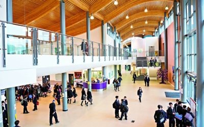 The 'heart space' reception area of the school hosts well-being activities for students