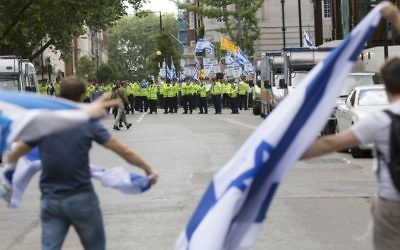 Pro Israel demonstrators at the Al Quds Day Rally