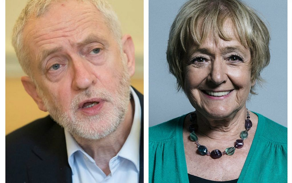 Jeremy Corbyn and Margaret Hodge