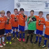 London Lions' U10 winning squad