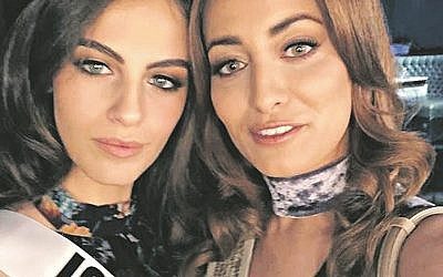 Sarah Idan, Miss Iraq, uploaded the above selfie she took with Miss Israel, Adar Gandelsman, which resulted in death threats