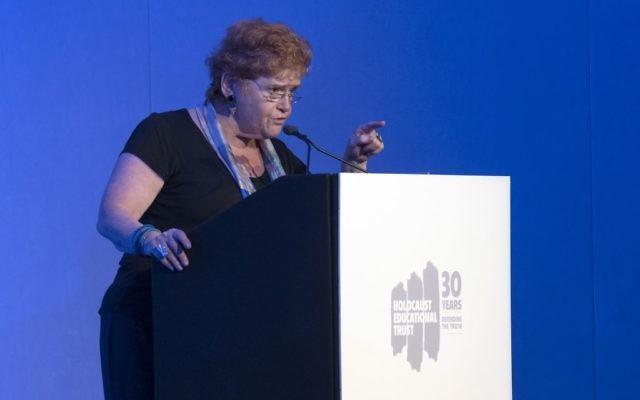 Prof Deborah Lipstadt speaking at HET's Annual Conference