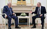 Mahmoud Abbas meeting with Vladimir Putin