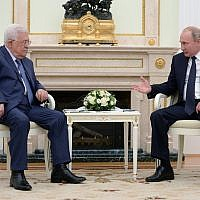 Mahmoud Abbas meeting with Vladimir Putin