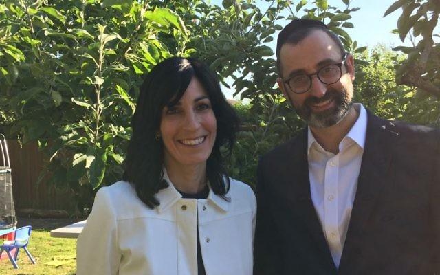 Rabbi David Rose, with his wife, Talia