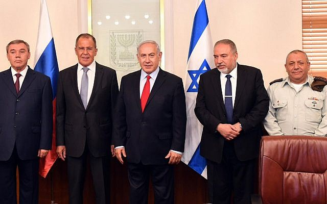 Russian delegation led by Foreign Minister Sergei Lavrov and Chief of the General Staff of the Armed Forces Valery Gerasimov, meet with Israeli officials, including prime minister Benjamin Netanyahu