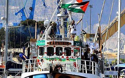 The Return ship, has previously been used to try and break the siege of Gaza. Credit: Freedom Flotilla on Twitter
