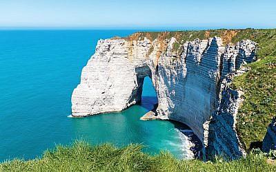 Étretat's famous cliff formations