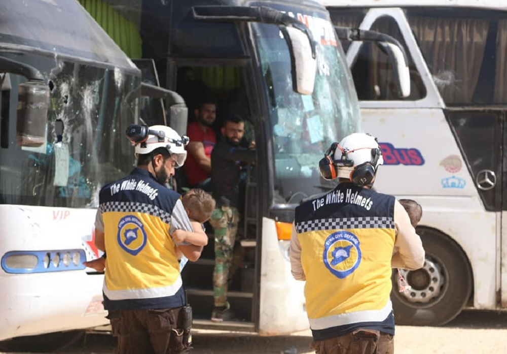 Syrian White Helmets evacuated by Israel