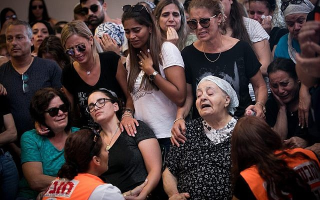 The funeral of Yotam Ovadia who was murdered on Thursday in the Jewish settlement of Adam . Photo by: JINIPIX