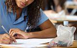 Pupil during an exam   Photo credit: Chris Radburn/PA Wire