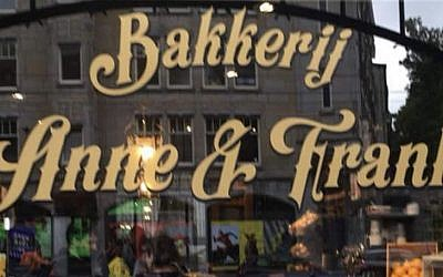 Shopfront for the 'Anne & Frank' bakery. Source: @DrukkeToestand on Twitter
