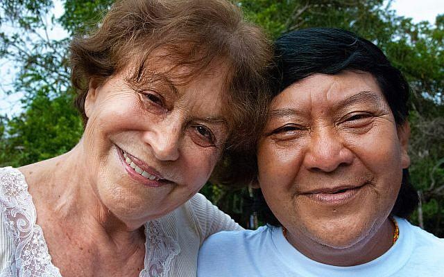 Claudia Andujar, photographer and activist, with Davi Kopenawa, a shaman and key spokesperson for the Yanomami, 2010. © Fiona Watson/Survival