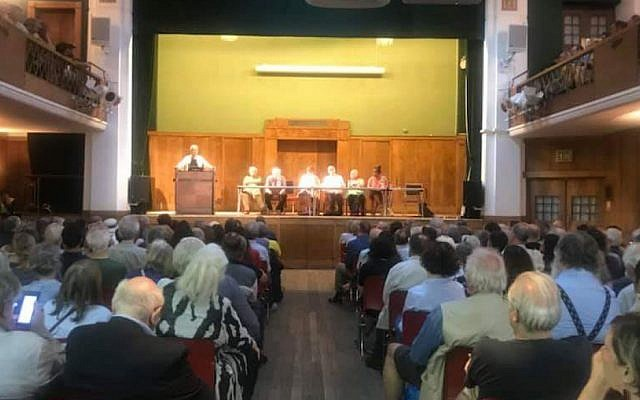 Tuesday night's meeting in Conway Hall. Picture: Facebook