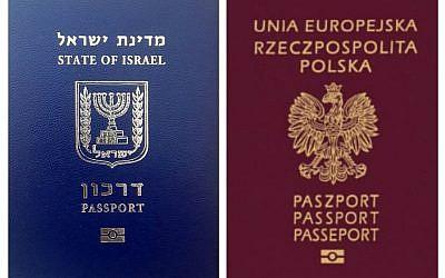 An Israeli and Polish passport