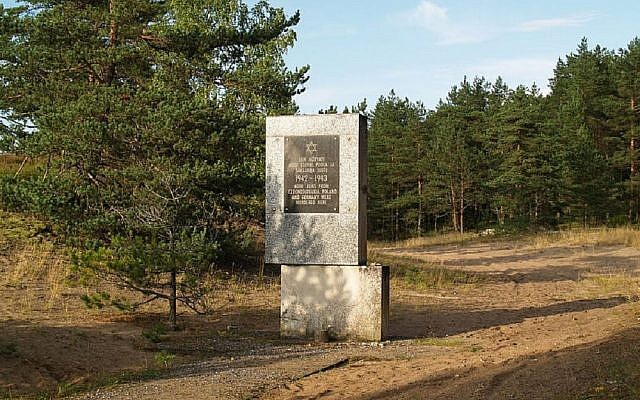 The Holocaust memorial at  Kalevi-Liiva. Picture: Kristjan Lust from Estonia