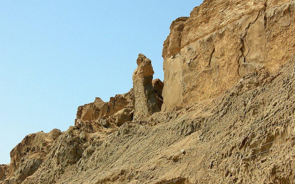 Lot's Wife pillar, Mount Sodom, Israel.