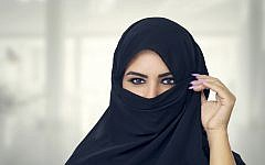 A Woman wearing a full-face veil. (Credit: Jewish News)